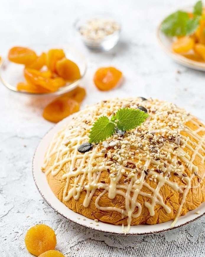 Угощение для семьи: творожный десерт с курагой от Дарьи Близнюк