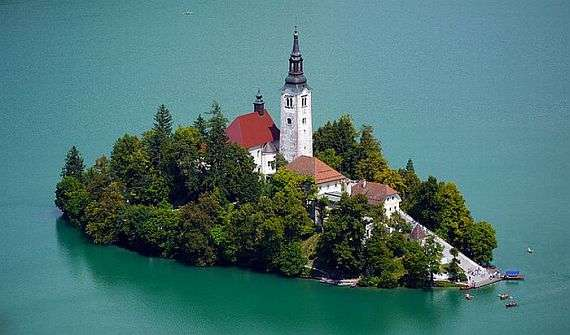 Чудесное озеро в Словении