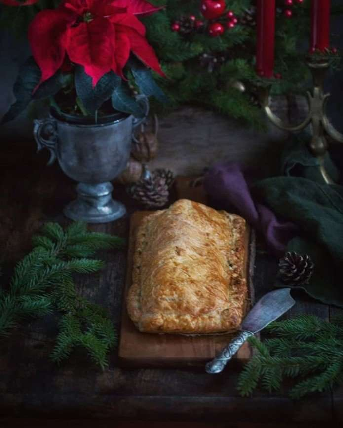 Быстрый пирог с рыбой и шпинатом от Анжелики Зоркиной