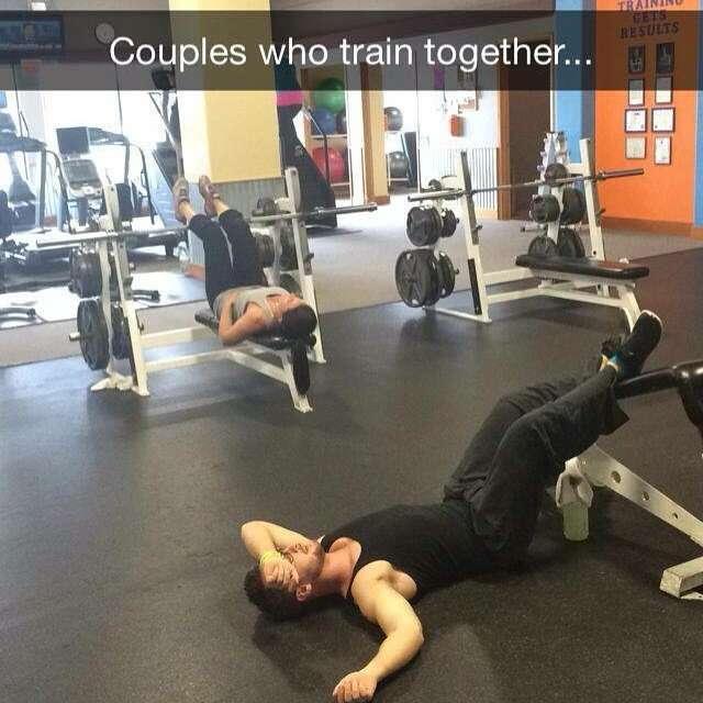 Романтика в спортзале