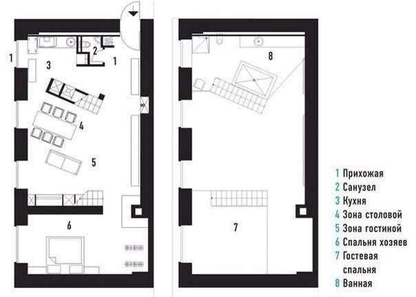 Двухъярусная квартира в Санкт-Петербурге